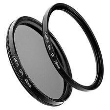 58mm MC UV Filter vergütet & Polfilter Set passt zu Nikon Nikkor Objektiv 58 mm