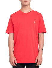 Volcom Stone Blank Short Sleeve T-Shirt in True Red