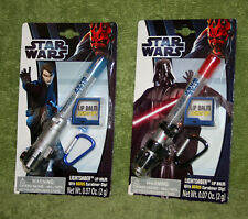 Star Wars Light Saber Lip Balm w/ Carabiner Clip Lot of 2 - Anakin & Darth Vader
