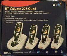 BT Calypso 225 Quad, black/silver, digital cordless telephone answering machine,