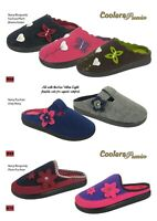 COOLERS Ladies Premier Velour Clog Mule Style Slippers   BRAND NEW & FREE POST