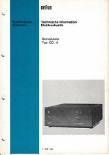 Service Manual-Anleitung für Braun CD-4 Demodulator