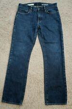   Mens Jeans size 33 x 32, GAP Straight fit cotton male denim blue