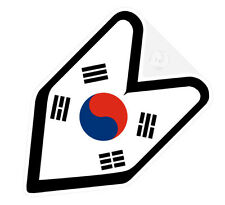 ## JDM WAKABA BADGE KOREA KOREAN Car Decal Flag not vinyl sticker ##