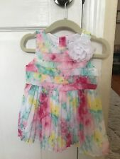 Lot Of 2 Matching Sister Janie And Jack Dresses 6-12 Months And Size 3 Worn Once