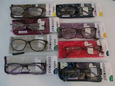 NEW!! FOSTER GRANT WOMENS COLOREAD BLUE PURPLE PINK BROWN READING GLASSES W/CASE