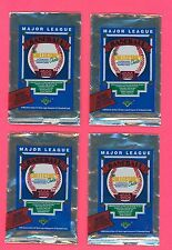 1989 UPPER DECK BASEBALL WRAPPERS / LOT OF 4