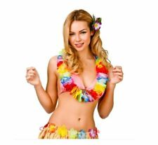 Aloha Hula Girl Hawaiian Multicoloured Lei Womens Fancy Dress Accessory Wakiki