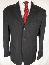 Armani Collezioni Recent Mens Charcoal Stripe 3 Btn Suit 40R
