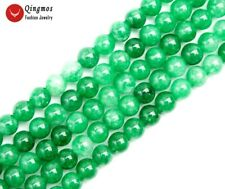 "Drak Green 6mm Round Natural Jade Stone Beads for Jewelry Making DIY 15"" los809"