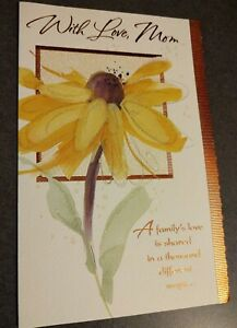 Happy Thanksgiving Card With Love Mom Flower