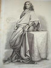 SIÈCLE DE LOUIS XIV / GRAVURE 1840 / BAYLE
