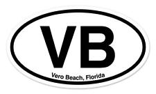 "VB Vero Beach Florida-Oval car window bumper sticker decal 5"" x 3"""