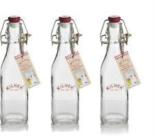 Set di 3 Kilner 250ml bottiglie di vetro-OLIO Clip Top preservare 3 x 0,25 l bottiglia