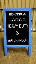 A BOARD - SANDWICH - BLACKBOARD - PAVEMENT SIGN - BLUE - 120cm x 72cm - 18kgs