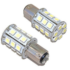 2x HQRP BA15D 1142 1178 LED Boat Bulb Light 24-5050 SMD DC 12V 24V White