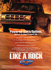 1993 Chevrolet Chevy S-10 Tahoe Truck - Classic Vintage Advertisement Ad D86