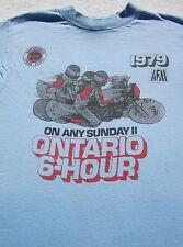 vintage 1979 ONTARIO 6-HOUR vtg SMALL T-SHIRT on any sunday II