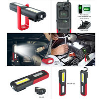 USB COB LED Magnetic Work Lights Car Garage Mechanic Home Rechargeable Torch Hot