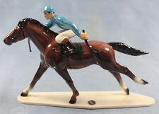 Jockey auf Pferd porzellanfigur Porzellan figur hagen renaker