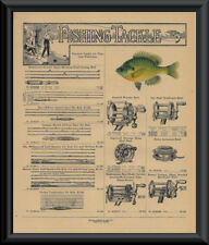 1916 Sears Fishing Tackle Catalog Page Reprint On 100 Year Old Paper *P135