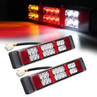 2x 12V LED Rear Tail Light Brake Reverse Indicator Lamp For Trucks Boat