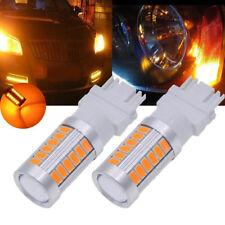 2X Amber 3157 3457 3057 Signal 33SMD Backup Reverse Tail Turn LED Light Bulb 12V