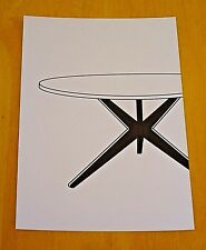 ICONIC DESIGN POSTCARD ~ POPSICLE DINING TABLE ~ HANS BELLMANN, KNOLL c1955