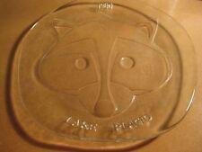 Vintage 1980 Olympics Lake Placid Glass Roni Raccoon Racoon Mascot Dish