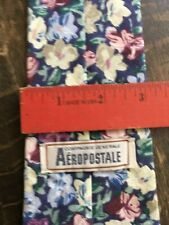 AEROPOSTALE 100% COTTON FLOWERED TIE