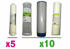Filtros osmosis: Filtros+postfiltro(10+10+10+5). Filter RO Kit. Kit osmoseur.