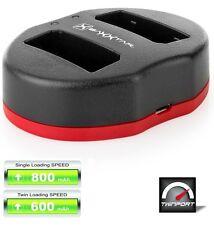 Baxxtar USB Dual Ladegerät TWIN PORT 1832 für Akku Canon LP-E10