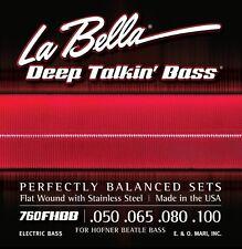 LA BELLA 760FHBB FLATWOUND HOFNER BEATLE BASS STRINGS, MEDIUM GAUGE - 50-100