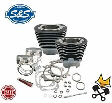 "S&S 4-1/8"" BIG BORE 117"" CYLINDER & PISTON KIT HARLEY 2007-UP TWIN CAM 910-0221"