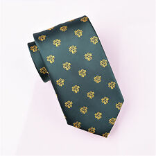 Yellow Italian Floral Green Tie 8cm Necktie Sexy Luxury Novelty GQ Fashion Boss
