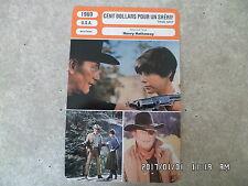 CARTE FICHE CINEMA 1969 CENT DOLLARS POUR UN SHERIF John Wayne Glen Campbell