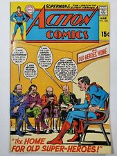 """Action Comics #386 Dc 1970 """"The Home for Old Superheros"""" Bronze Age Deal!"""