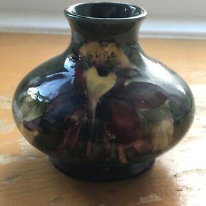 Extremely Rare Vintage  Moorcroft Vase Signed W Moorcroft With Origional  Label