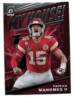 2020 Donruss Optic Patrick Mahomes My House insert card Chiefs