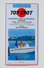 FREE SHIPPING....TOP SPOT BRUNSWICK TO SAVANNAH WATERPROOF FISHING & REC MAP
