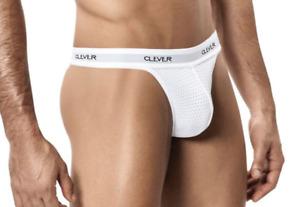 Clever Moda Men's NWT White Mesh Thong Style 0001 Small Medium