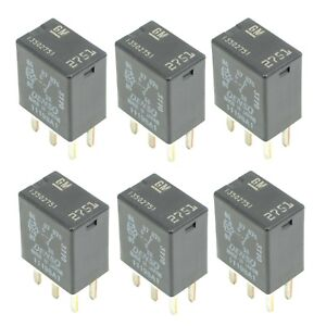 Set of 6 GM  Accessory Power Relay 13502751 For Chevrolet Buick 94-17