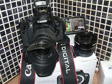 Canon EOS 650D / Rebel T4i 18.0MP Digital SLR Camera - Black WITH THREE LENSES