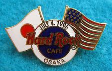 New listing Osaka Japanese 4Th July 1996 Hrc Logo American Japanese Flags Hard Rock Cafe Pin