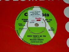 """Malcolm Roberts """"When There's No You"""" Columbia Demo 45"""