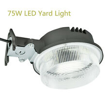 LED Yard Light 75W 8400LM Dusk to Dawn Daylight Outdoor Security Area Light