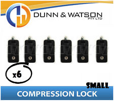 Small Black Compression Lock / Handle / Latch (Pop Omega Trailer Canopy ) x6