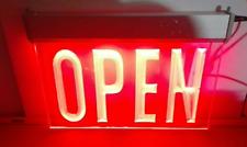 Led Neon Light Sign Red Open