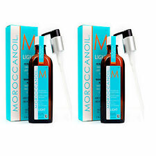Moroccan Oil LIGHT DUO Pack  Hair Treatment 2x 200ml Bottles with Pump