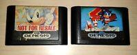 Sonic the Hedgehog 1 & 2 Sega Genesis Vintage original retro game cartridge lot